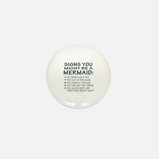 Mermaid Signs Mini Button