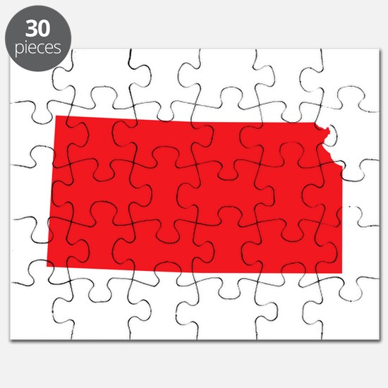 Kansas State Shape Outline Puzzle