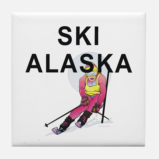 Ski Alaska Tile Coaster