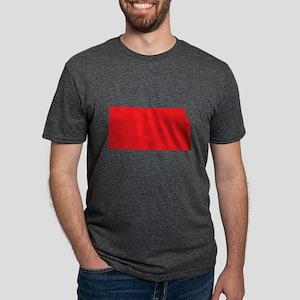 Kansas State Shape Outline Mens Tri-blend T-Shirt