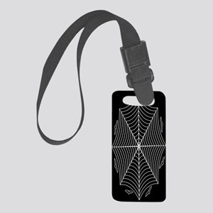 Spider web and bats Small Luggage Tag