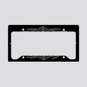 Spider web and bats License Plate Holder