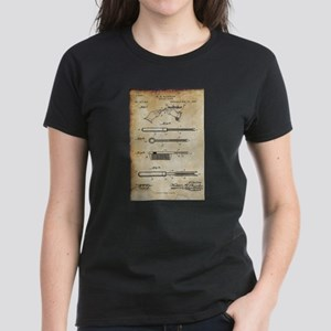 1889 Patent for Curling Tongs - Vintage T-Shirt