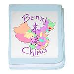 Benxi China Map baby blanket