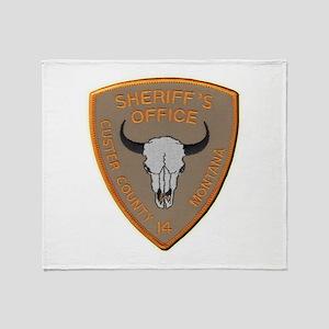 Custer County Sheriff Throw Blanket
