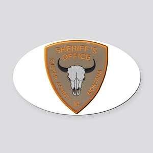 Custer County Sheriff Oval Car Magnet
