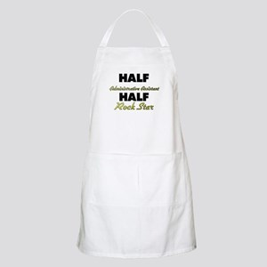 Half Administrative Assistant Half Rock Star Apron