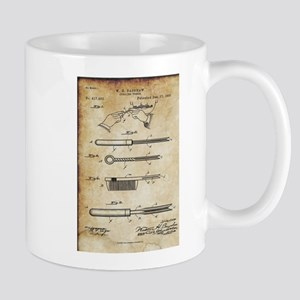 1889 Patent for Curling Tongs - Vintage Mugs