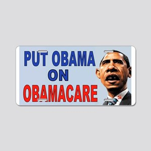 OBAMACARE THE OBAMAS Aluminum License Plate