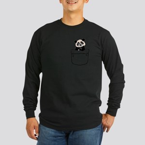 Funny Panda Bear in a Pocket Long Sleeve T-Shirt