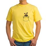 Panda Mens Classic Yellow T-Shirts