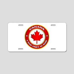 Canada Medallion Aluminum License Plate