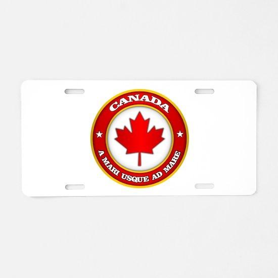 Canada Medallion Aluminum License Plate