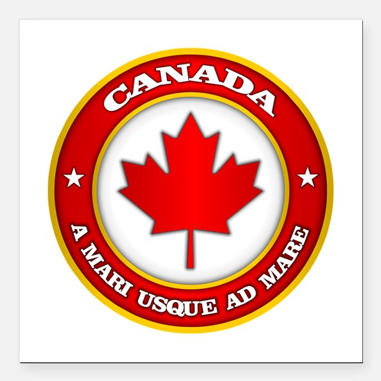 "Canada Medallion Square Car Magnet 3"" x 3"""