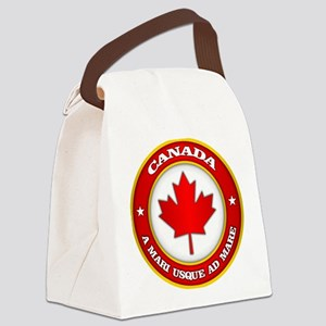 Canada Medallion Canvas Lunch Bag