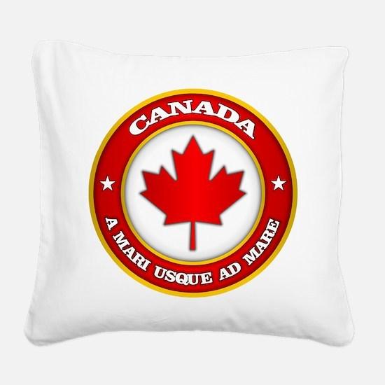 Canada Medallion Square Canvas Pillow
