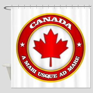 Canada Medallion Shower Curtain
