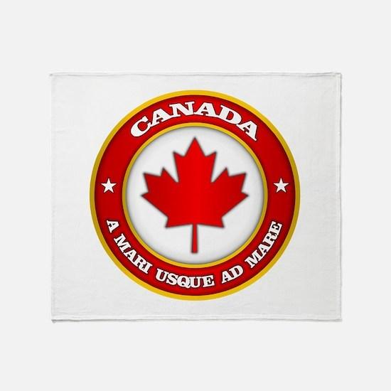 Canada Medallion Throw Blanket