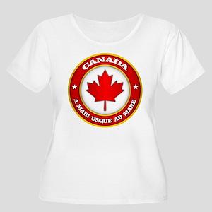 Canada Medallion Plus Size T-Shirt