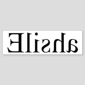 Elisha: Mirror Bumper Sticker