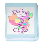 Dalian China Map baby blanket