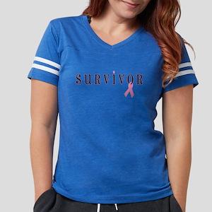Cancer Survivor Womens Football Shirt T-Shirt