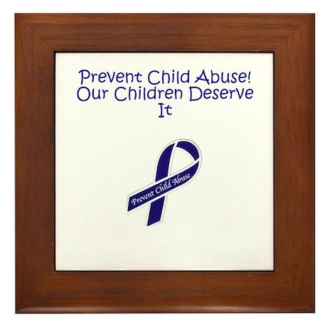Child Abuse Framed Tile