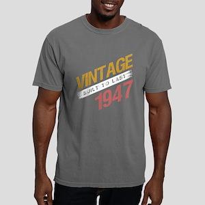 Vintage 1947 Birth Year Mens Comfort Colors Shirt