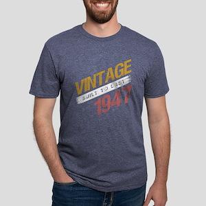 Vintage 1947 Birth Year Mens Tri-blend T-Shirt