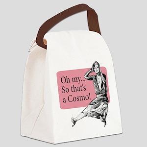 Retro Lady Cosmo - Canvas Lunch Bag