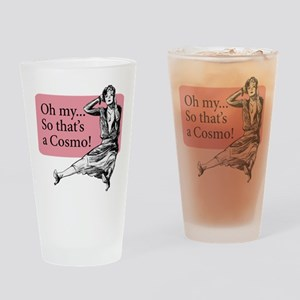 Retro Lady Cosmo - Drinking Glass
