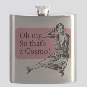 Retro Lady Cosmo - Flask