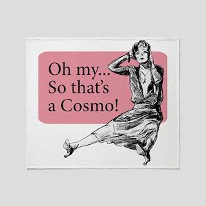 Retro Lady Cosmo - Throw Blanket