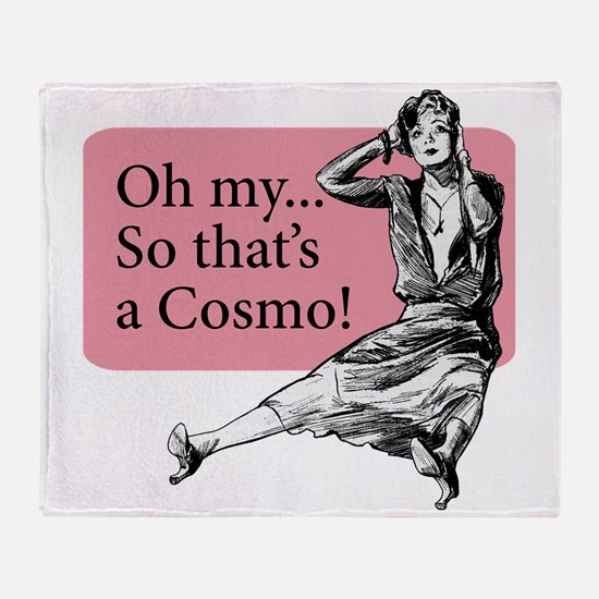 Retro Lady Cosmo - Throw Blanket