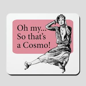 Retro Lady Cosmo - Mousepad