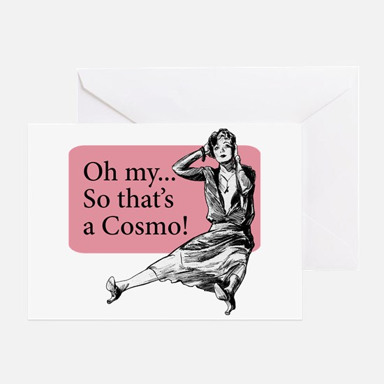 Retro Lady Cosmo - Greeting Card