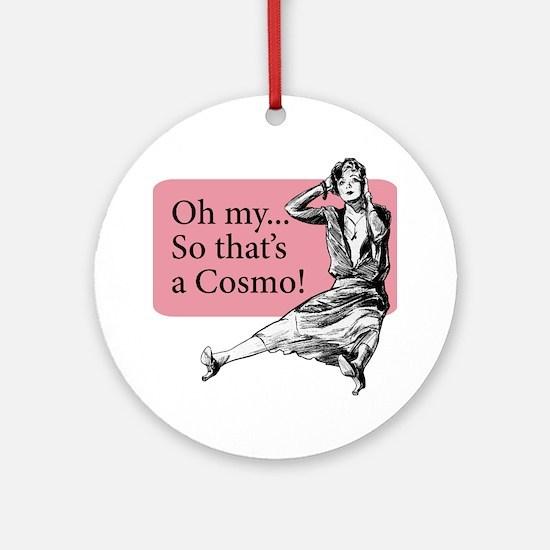 Retro Lady Cosmo - Ornament (Round)