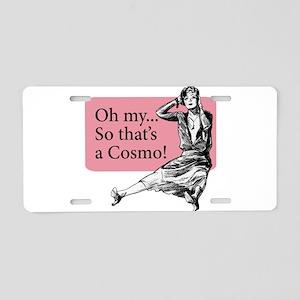 Retro Lady Cosmo - Aluminum License Plate