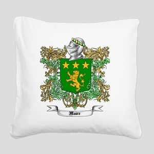 Moore Family Crest 1 Square Canvas Pillow