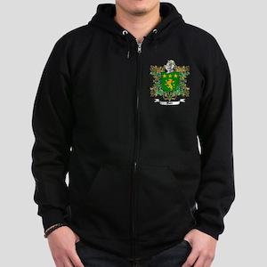 Moore Family Crest 1 Zip Hoodie (dark)