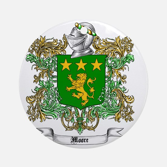 Moore Family Crest 1 Round Ornament