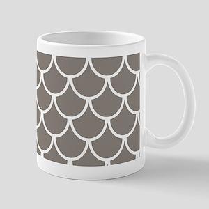 Neutral Brown Fish Scales Patter 11 oz Ceramic Mug