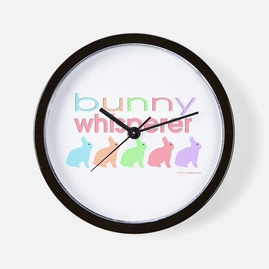 Bunny Whisperer Wall Clock