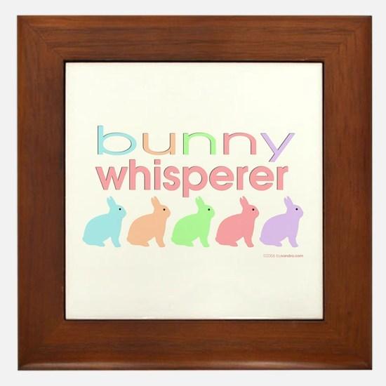 Bunny Whisperer Framed Tile