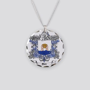 Moore Family Crest 5 Necklace Circle Charm