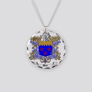 Moore Family Crest 6 Necklace Circle Charm