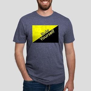 Ancap Flag Rule Yourself Mens Tri-blend T-Shirt