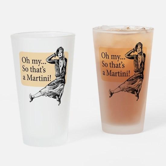 Retro Lady Cosmo - Drinking Glass