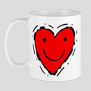Happy Face Heart Mug