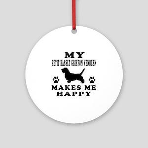 My Petit Basset Griffon Vendeen makes me happy Orn